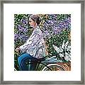 Riding Bycicle For Lilac Framed Print