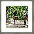 Riding In The Woods Framed Print
