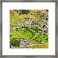 Riederalp Switzerland With Golf Course Framed Print