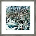 River Flowing Through A Valley, Hudson Framed Print