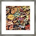 River Rock Rainbow Framed Print