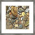River Rocks 17 In Stereo Framed Print