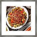 Roasted Pork Loin Roast Dinner Framed Print