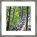 Rock Climbing Youths Framed Print