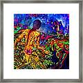 Rock 'n' Roll In The Rhythms Of Colours Framed Print