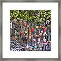 Rockport Fishing Net And Buoys Framed Print