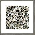 Rocks And Stones Texture Framed Print