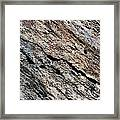 Rocks Texture Framed Print