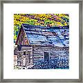 Rocky Mountain Rural Rustic Cabin Autumn View Framed Print