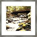 Rocky Stream With Bridge Framed Print