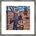 Rodeo Gate Keeper Framed Print