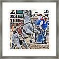 Rodeo Horse Cheers Framed Print
