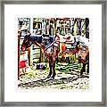 Rodeo Horse Three Framed Print