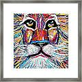 Rodney Abstract Lion Framed Print