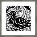 Roman Mosaic Bird Framed Print by Mair Hunt