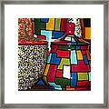 Romanian Colourful Pottery Framed Print