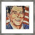 Ronald Wilson Reagan Mosaic Framed Print