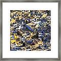 Rooftops In India Framed Print