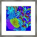 Rooster Blues Framed Print