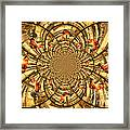 Crowing Rooster Kaleidoscope Framed Print