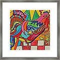 Rooster On Lookout  Framed Print
