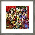 Roosters in the Midst Framed Print