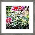 Rose Expressive Brushstrokes Framed Print