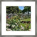 Rose Garden And Trellis Framed Print