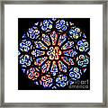 Rose Window Of Grace Cathedral By Diana Sainz Framed Print