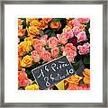 Roses At Flower Market Framed Print