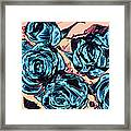 Roses For A Blue Lady  Framed Print