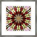 Roses Kaleidoscope Under Glass 25 Framed Print
