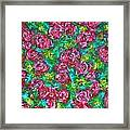 Roses Pattern Framed Print