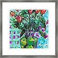 Roses With Apples Framed Print