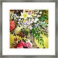 Rosy Blooms Framed Print
