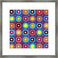 Round Up The Squares Framed Print