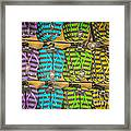 Rows Of Flip-flops Key West - Hdr Style Framed Print