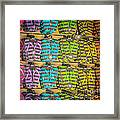 Rows Of Flip-flops Key West - Square - Hdr Style Framed Print