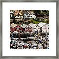 Rows Of Houses And Sails Framed Print