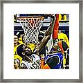 Roy Hibbert Vs Carmelo Anthony Framed Print by Florian Rodarte