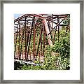 Rt 66 Bridge In Oklahoma Framed Print