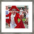 Running Of The Bulls New Orleans Matador Framed Print