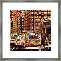 Rush Hour - Traffic In New York Framed Print