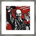 Russian Revolution October 1917 Vladimir Ilyich Lenin Ulyanov  1870 1924 Russian Revolutionary Framed Print