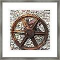 Rusted Gear Wheel Glacier National Park Montana Framed Print
