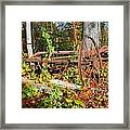 Rusted Old Plow Framed Print