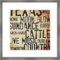 Rustic Texas Art Framed Print