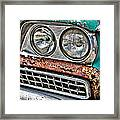 Rusty 1959 Ford Station Wagon - Front Detail Framed Print