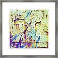 Rusty Background Framed Print