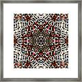 Rusty Chain Link Kaleido Framed Print